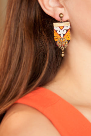 Beautiful Handmade Earring with Middle Eastern Embroidery