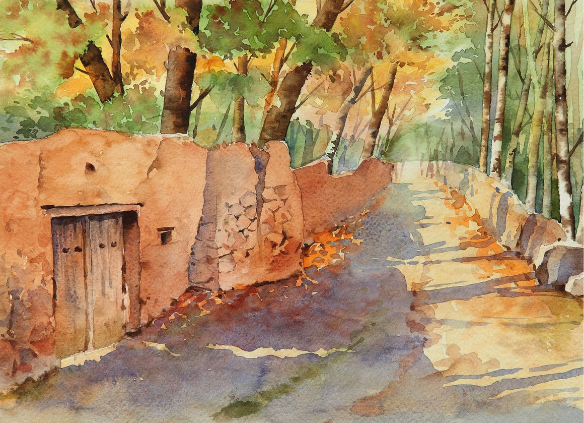 Water color Alley painting