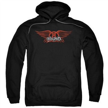 Aerosmith Winged Logo Adult Hoodie - Brenda and Eddie