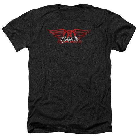 Aerosmith Winged Logo Men's Heather T-Shirt