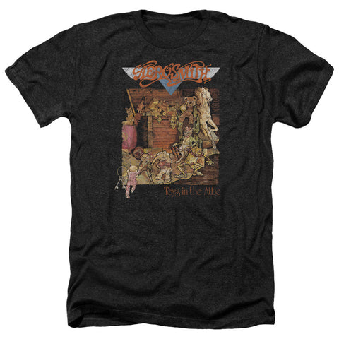 Aerosmith Toys In The Attic Men's Heather T-Shirt - Brenda and Eddie