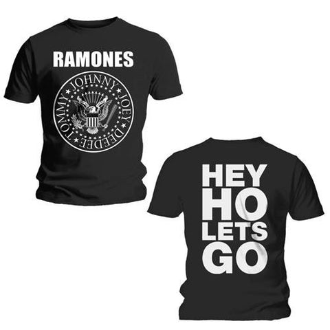 RAMONES MENS TEE: HEY HO LET'S GO T-SHIRT