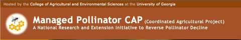 Managed Pollinator CAP 15 Universities coordinating efforts on managed pollinators, website image