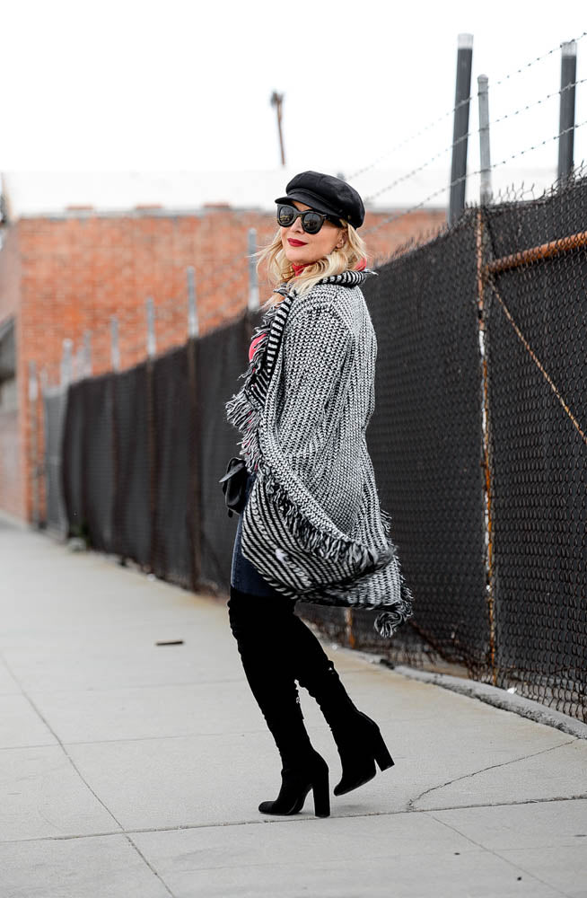 baciano fashion blogger online. where can i find the best fringe cardigan online?