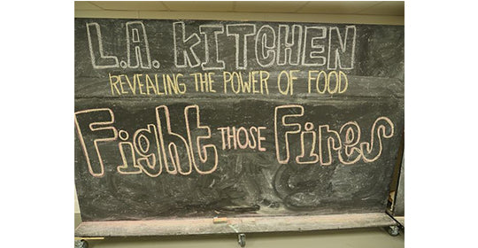 baciano fighting wild fires. baciano feeding program. los angeles kitchen volunteer effort.