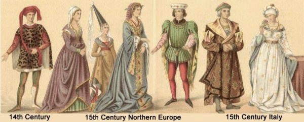 Renaissance and early modern period fashion.