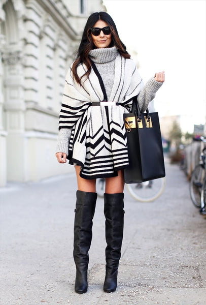 Cozy way to style a poncho