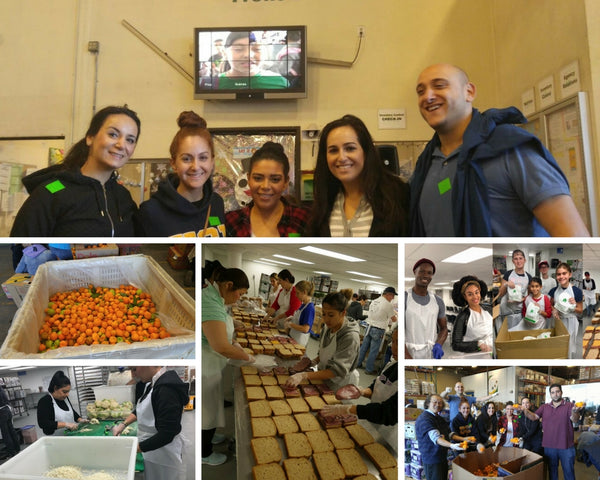 LA food bank. Baciano outreach program. volunteer program, giving help to those in need, helping one another, baciano out reach program to help prevent hunger throughout the entire los angeles county, people making sandwiches to that others can eat and be happy
