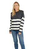 Load image into Gallery viewer, Stripe Print Pullover Coat