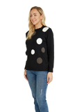 Load image into Gallery viewer, Polka dot print pullover sweater