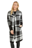 Load image into Gallery viewer, Plaid Print Pullover Jacket in Black