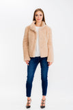 Load image into Gallery viewer, Faux Fur Snap Closure Jacket | Womens | Baciano