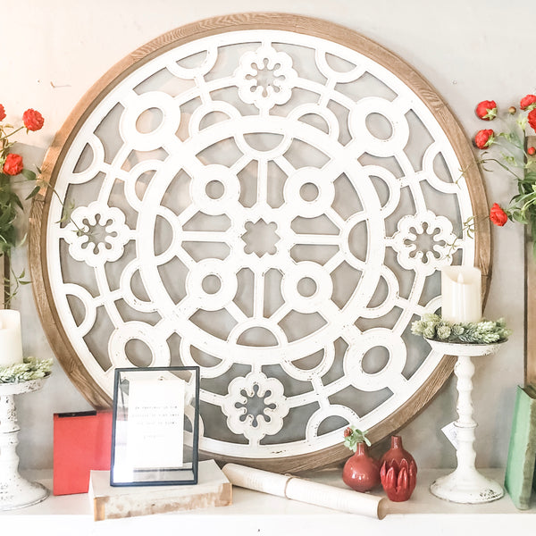 Round Architectural Wall Art LOCAL ONLY