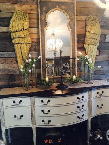 Bow Front Buffet Table / Sideboard