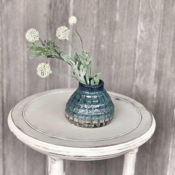 Textured Blue Pot - LOCAL ONLY