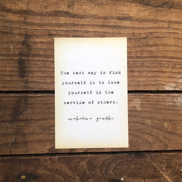 Quote Card - Ghandi