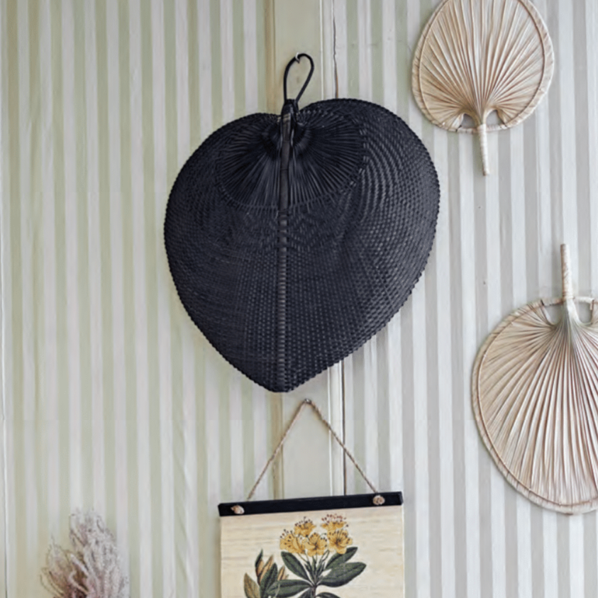 Hand-Woven Bamboo Fan - LOCAL or SHIP