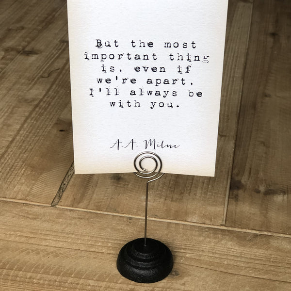 Quote Card Holder - Wire Stand