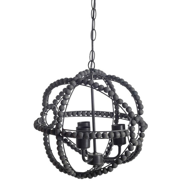 Round Beaded 3 Light Pendant