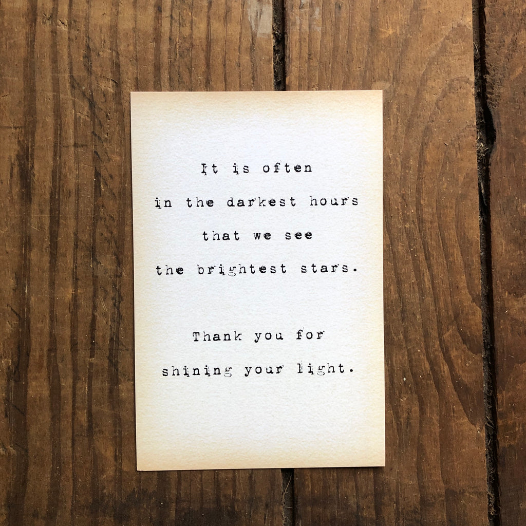 Quote Card - Brightest Stars