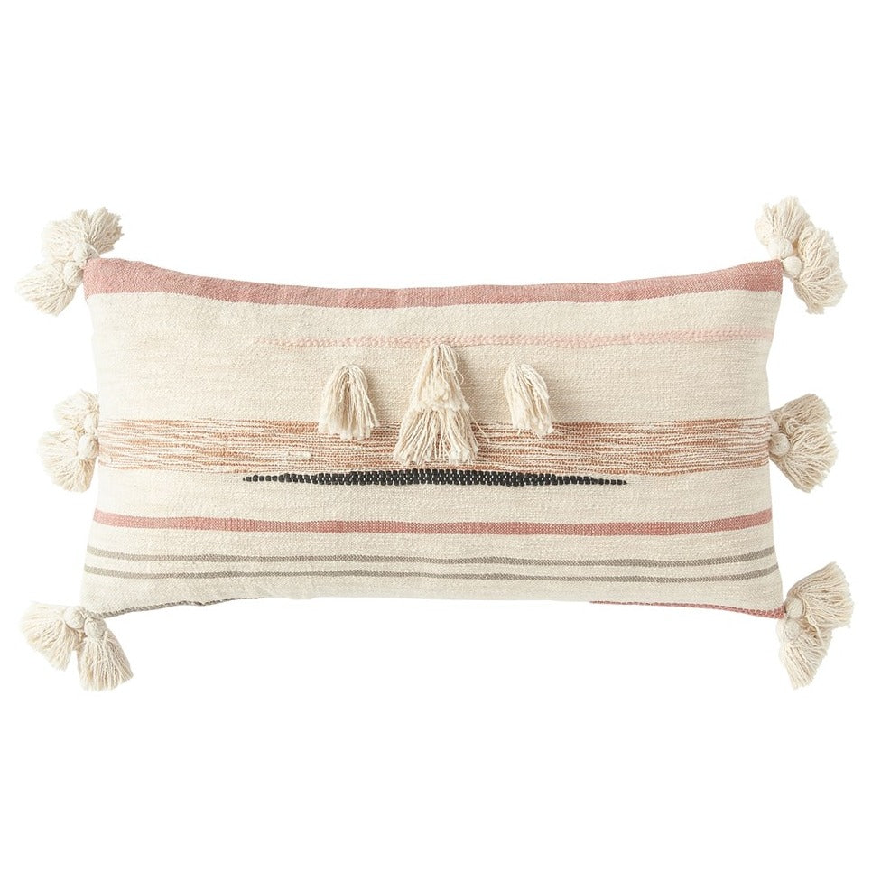 Blush Kilim Lumbar Pillow