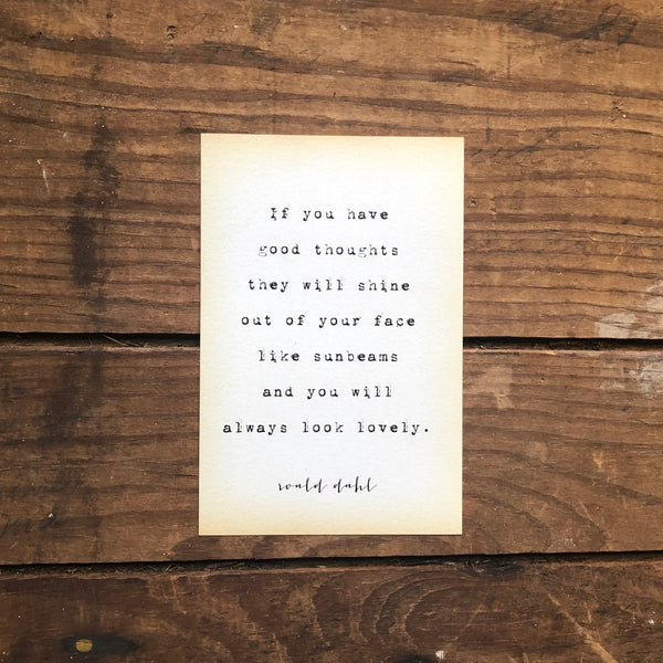 Quote Card - Dahl