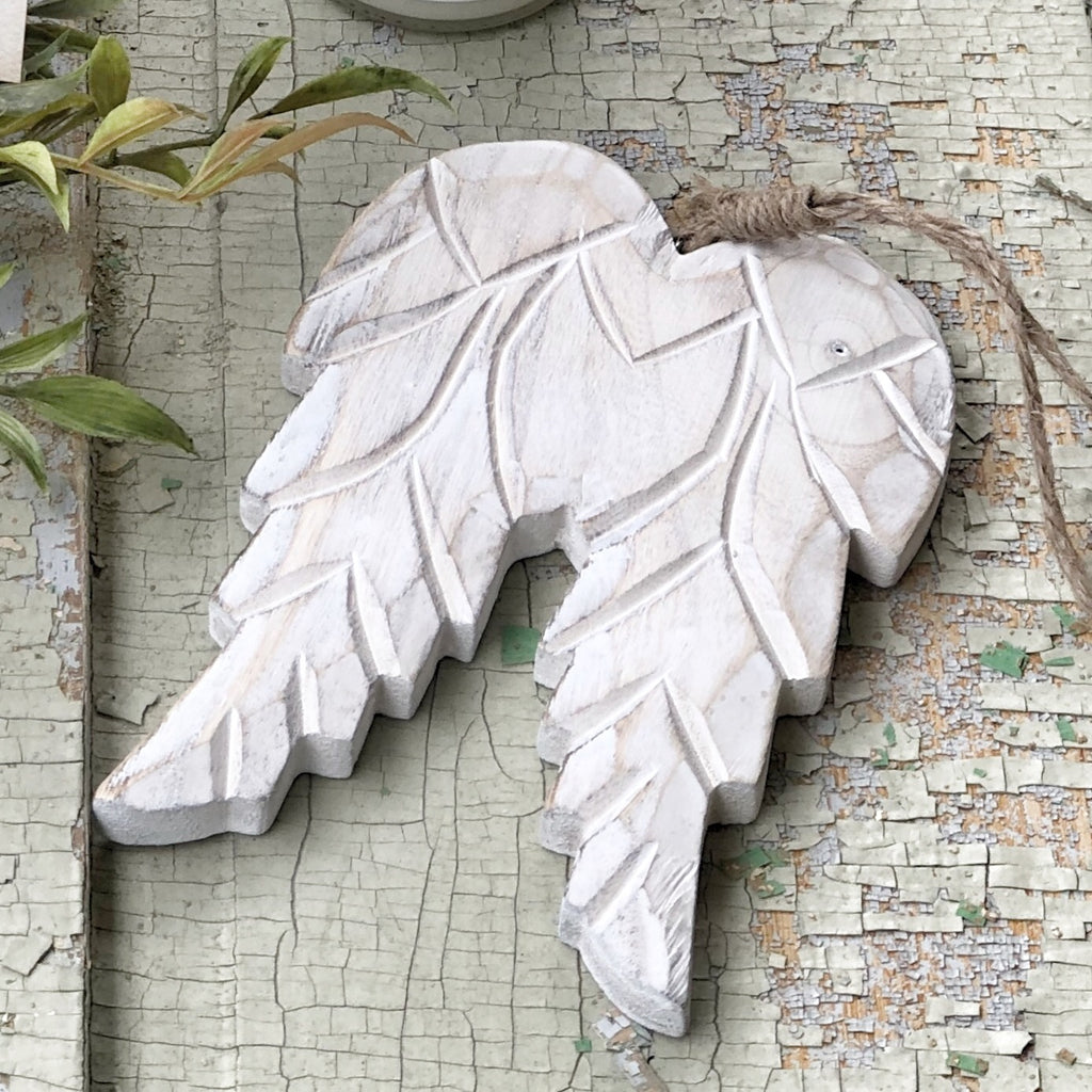 Carved Wood Angel Wings
