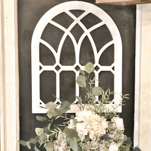 Arched Window Wall Decor LOCAL or SHIP
