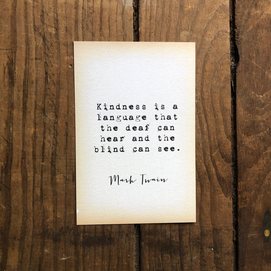 Quote Card - Twain