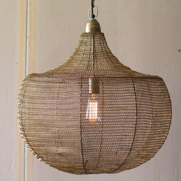 Modern Woven Wire Pendant