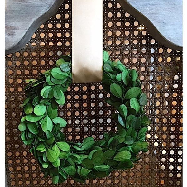 Preserved Real Boxwood Wreath 6 inch indoor