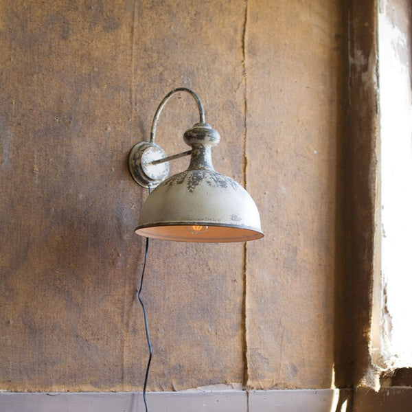 Metal Dome Wall Sconce