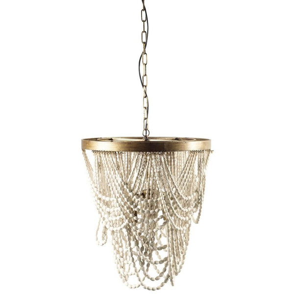 Draping Wood Bead Chandelier
