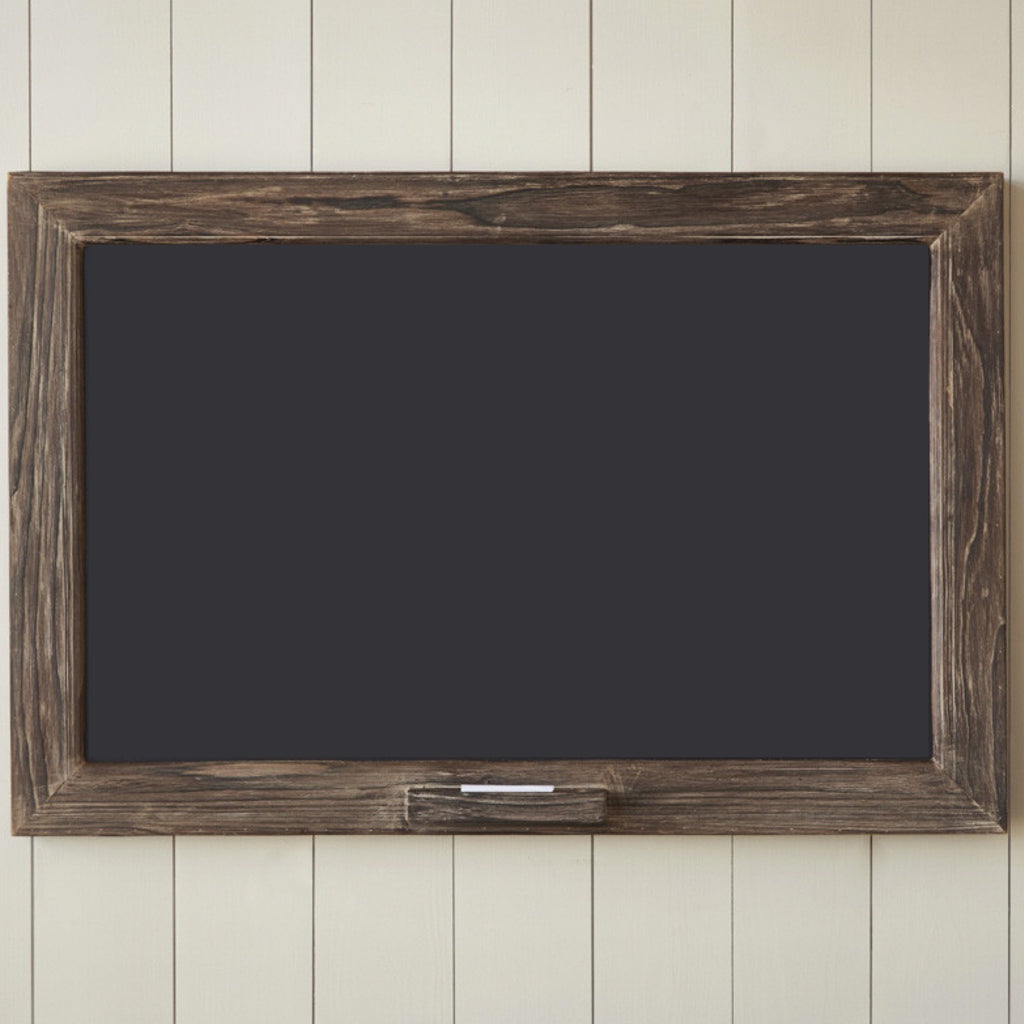 Rough Cut Wood Framed Chalkboard