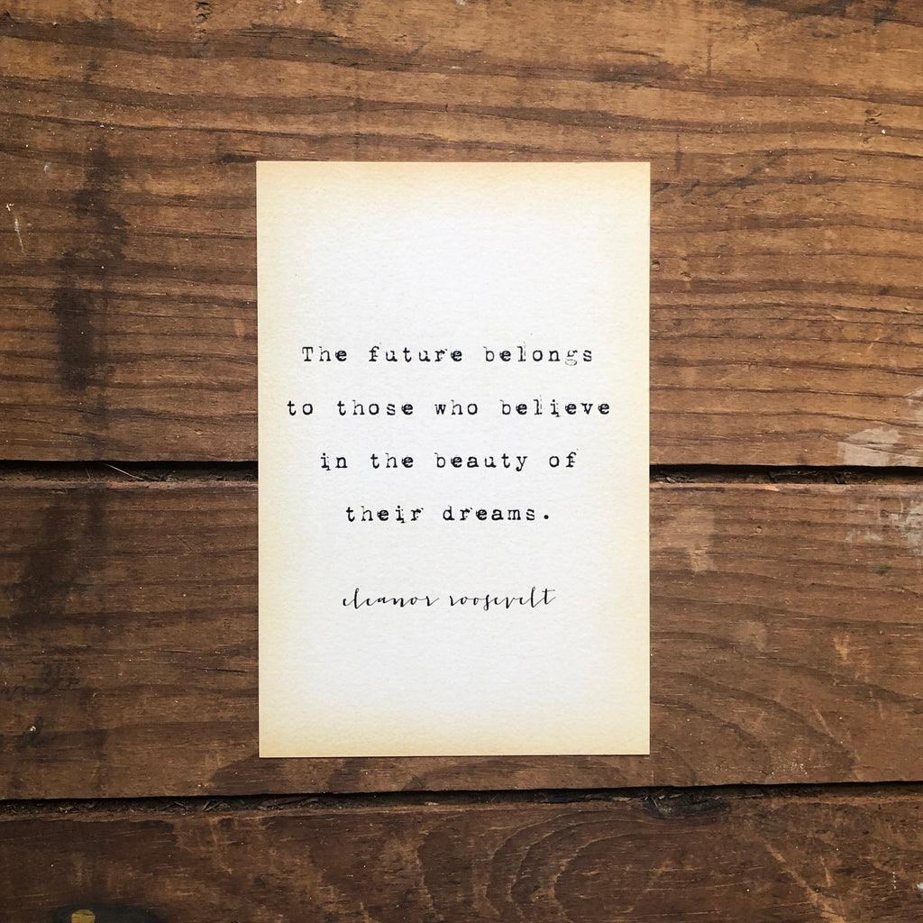 Quote Card - E. Roosevelt