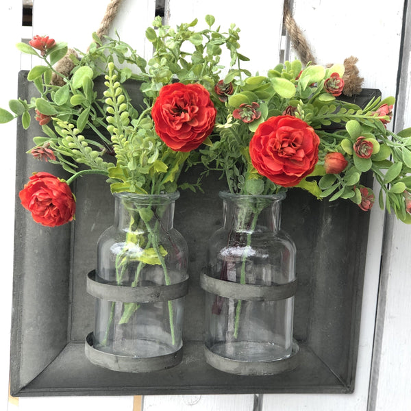 Two Bottle Wall Vase - LOCAL ONLY