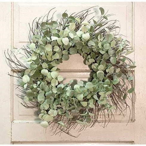 Silver Drop Eucalyptus Twig Wreath