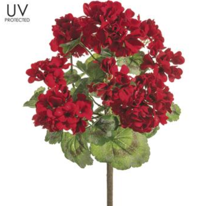 UV Protected Red Floral Bush LOCAL ONLY