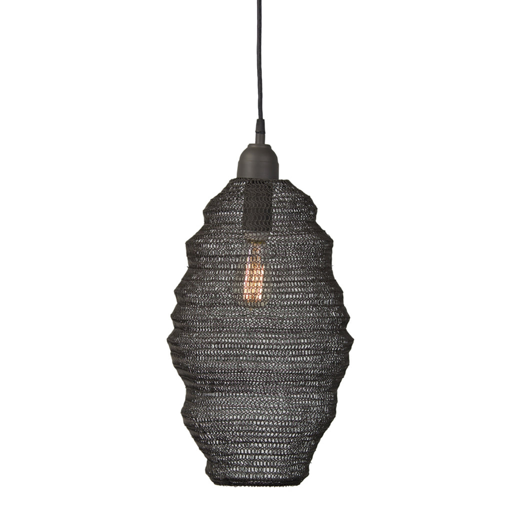 Metal Net Oblong Pendant