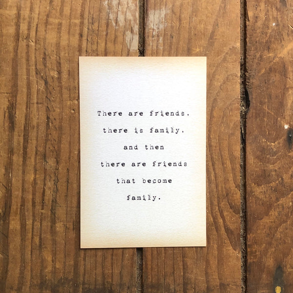 Quote Card - There Are Friends