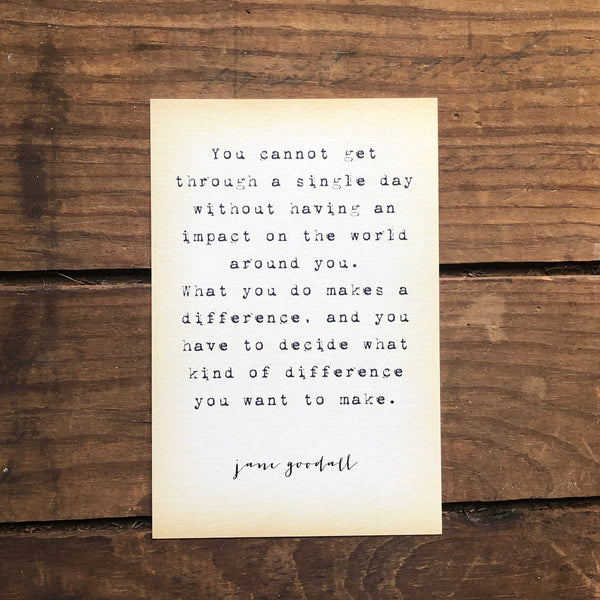 Quote Card - Goodall 2