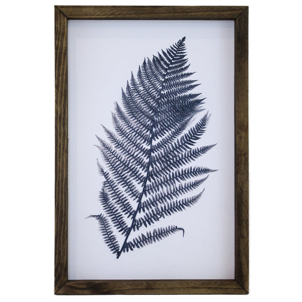 Blue Fern Framed Art #2 LOCAL ONLY