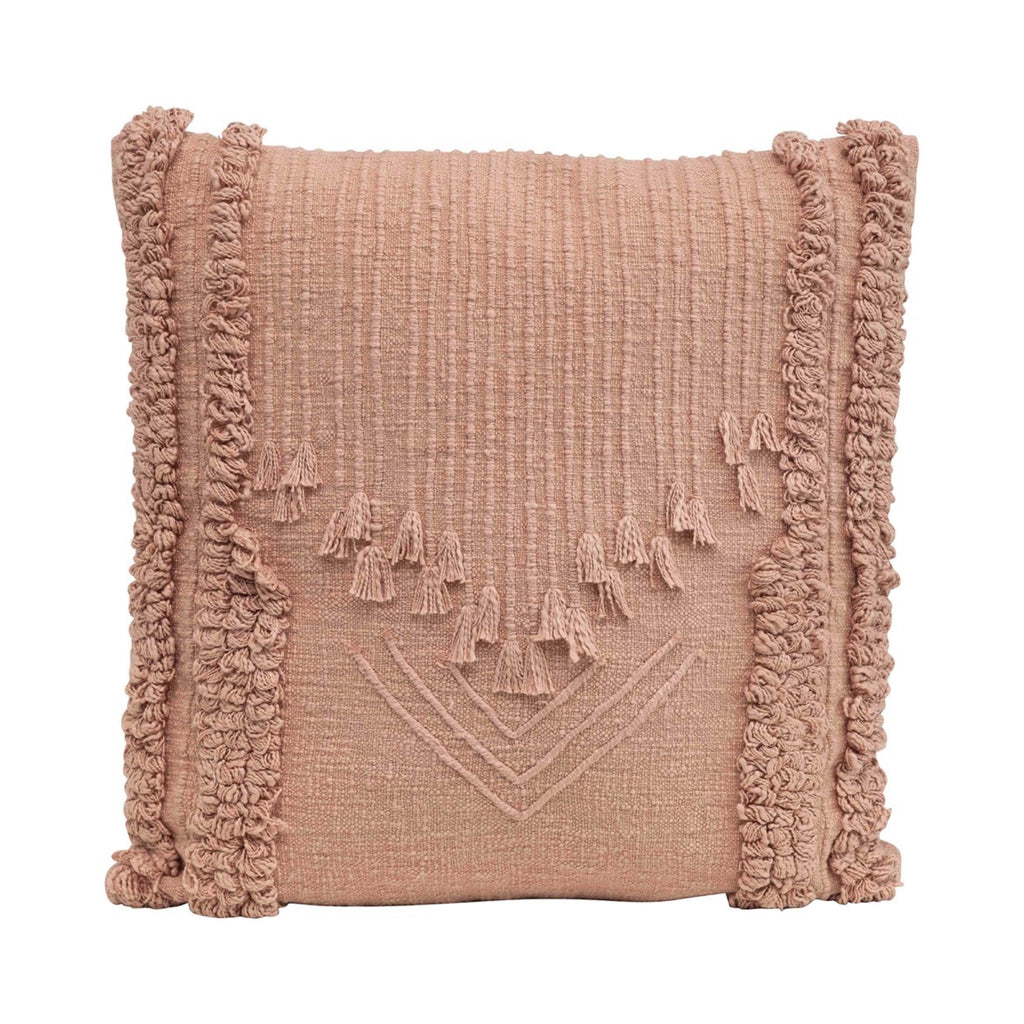 Blush Embroidered Pillow