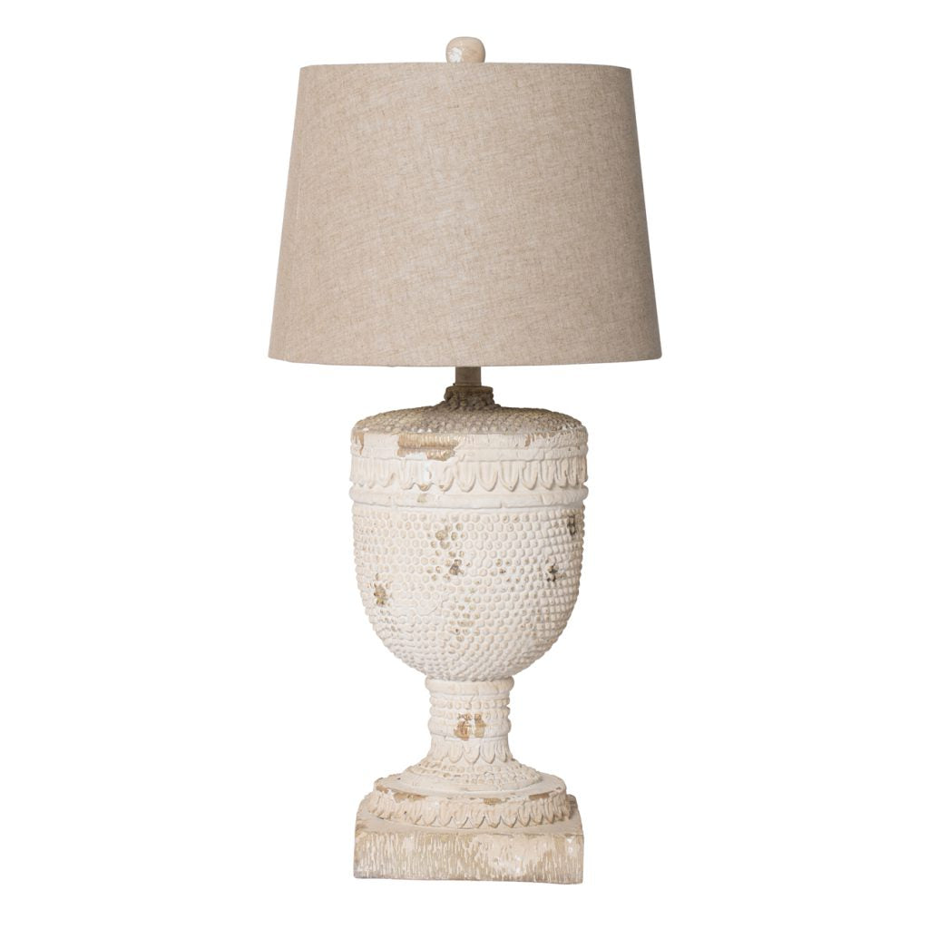 Distressed White Lamp