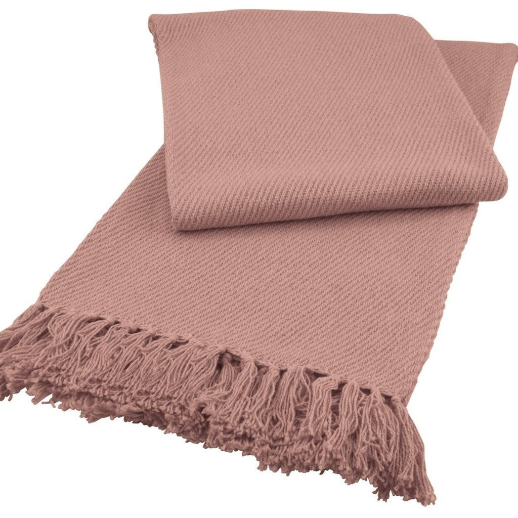 Soft Cotton Throw, Coral