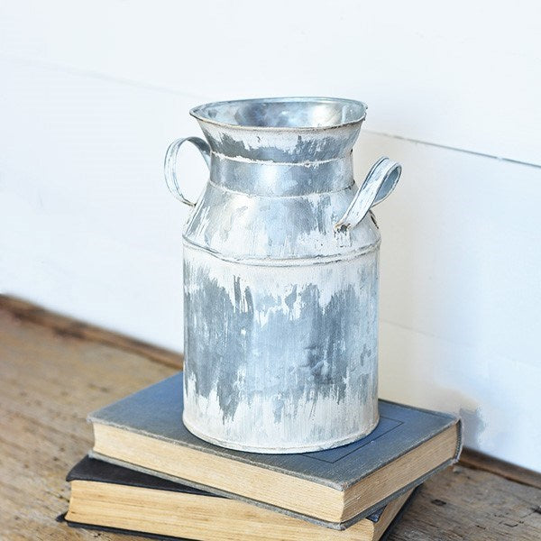 Distressed Metal Milk Can