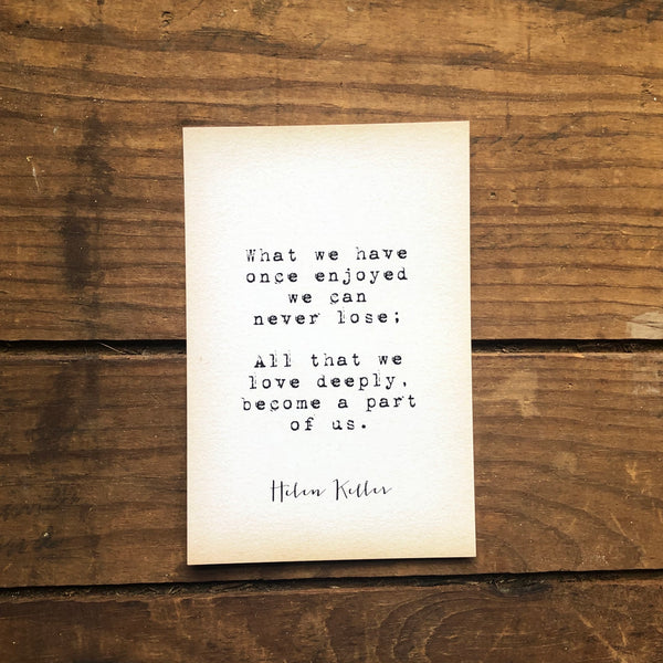 Quote Card - H. Keller 1