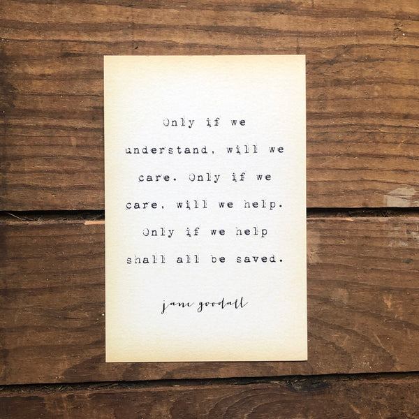 Quote Card - Goodall 1