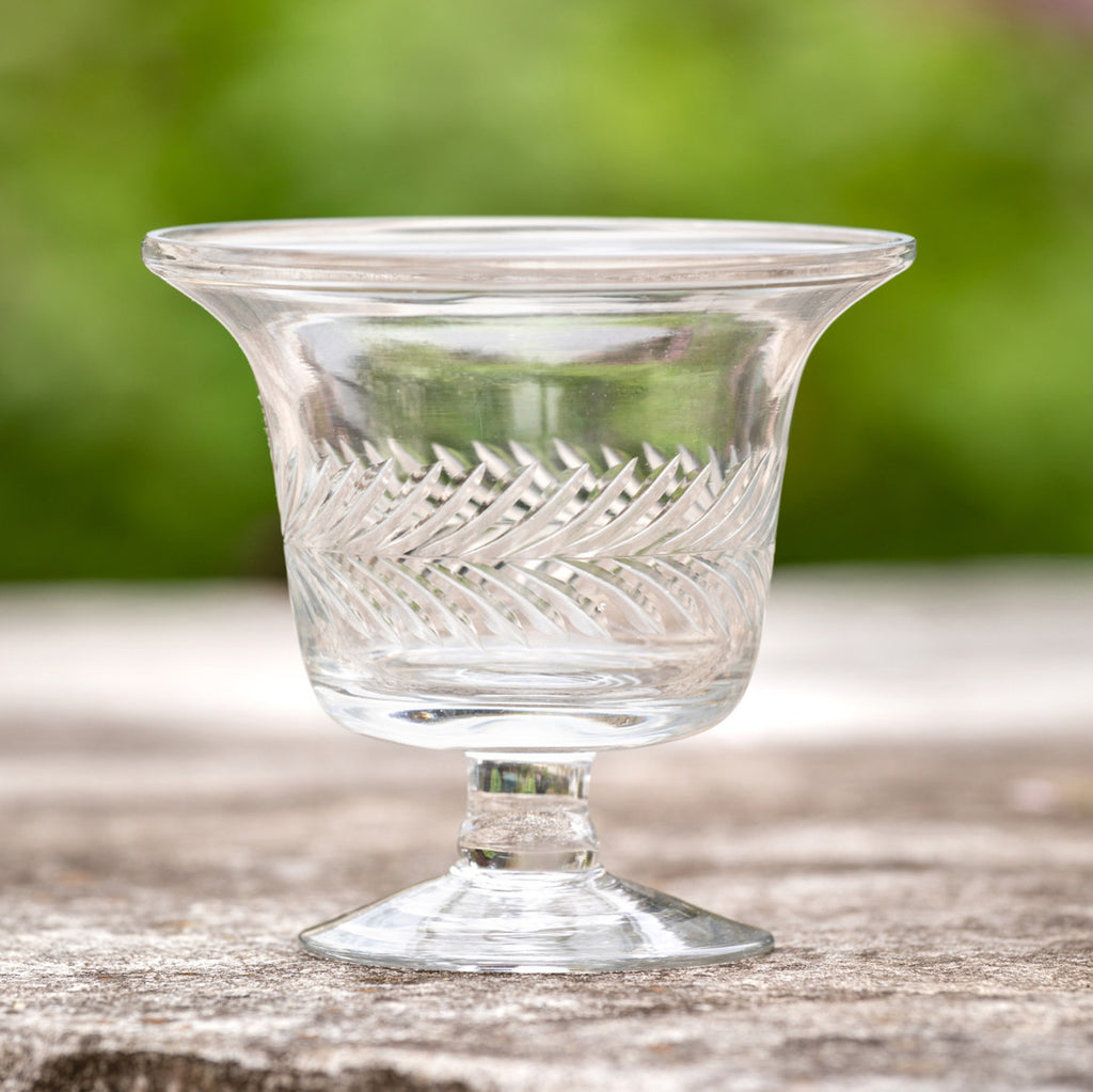 Glass Etched Urn