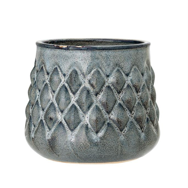 Embossed Blue Pot